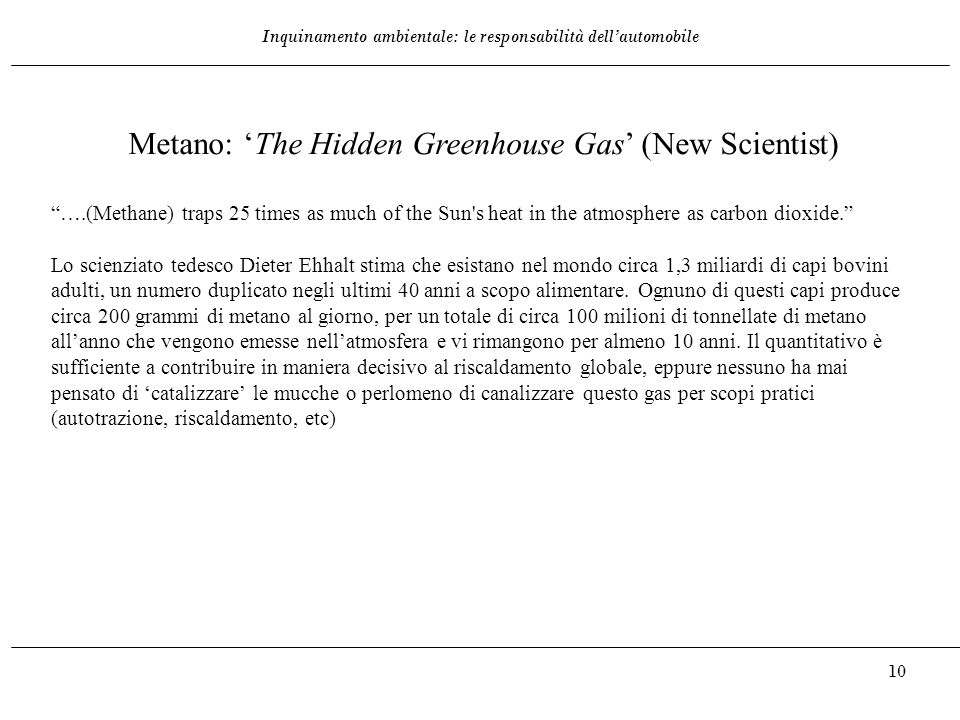 Metano: 'The Hidden Greenhouse Gas' (New Scientist)
