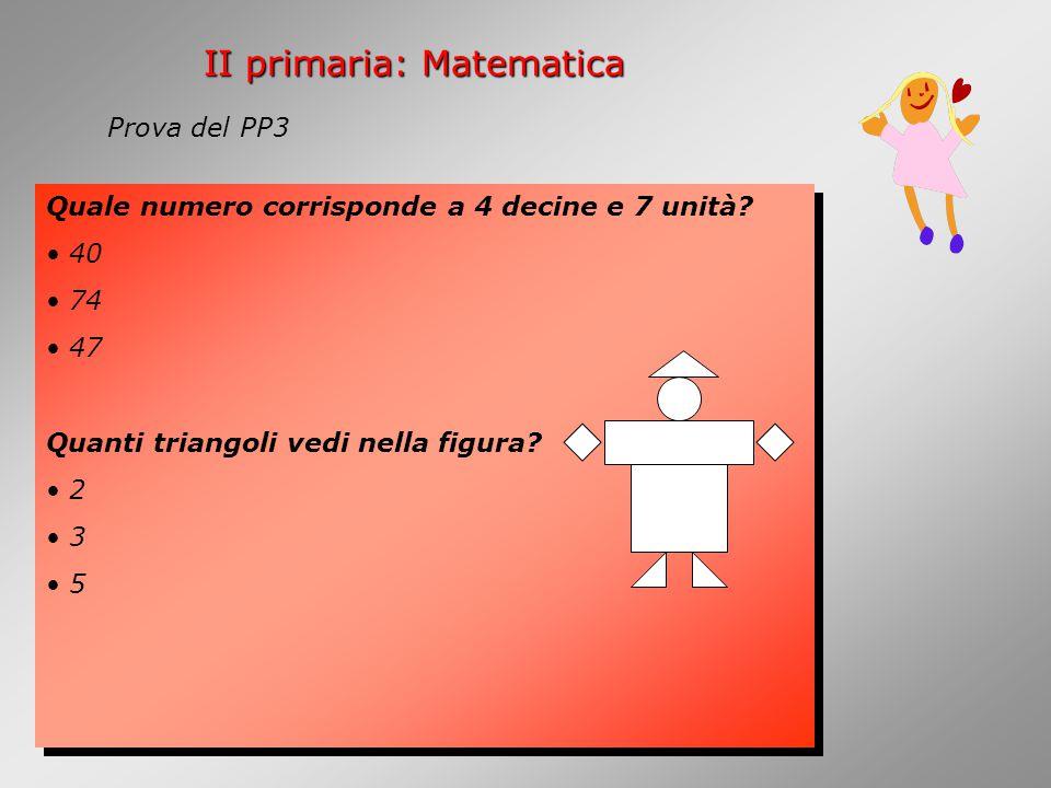 II primaria: Matematica