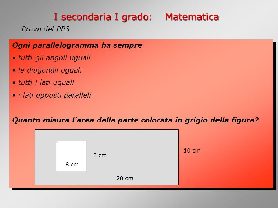 I secondaria I grado: Matematica