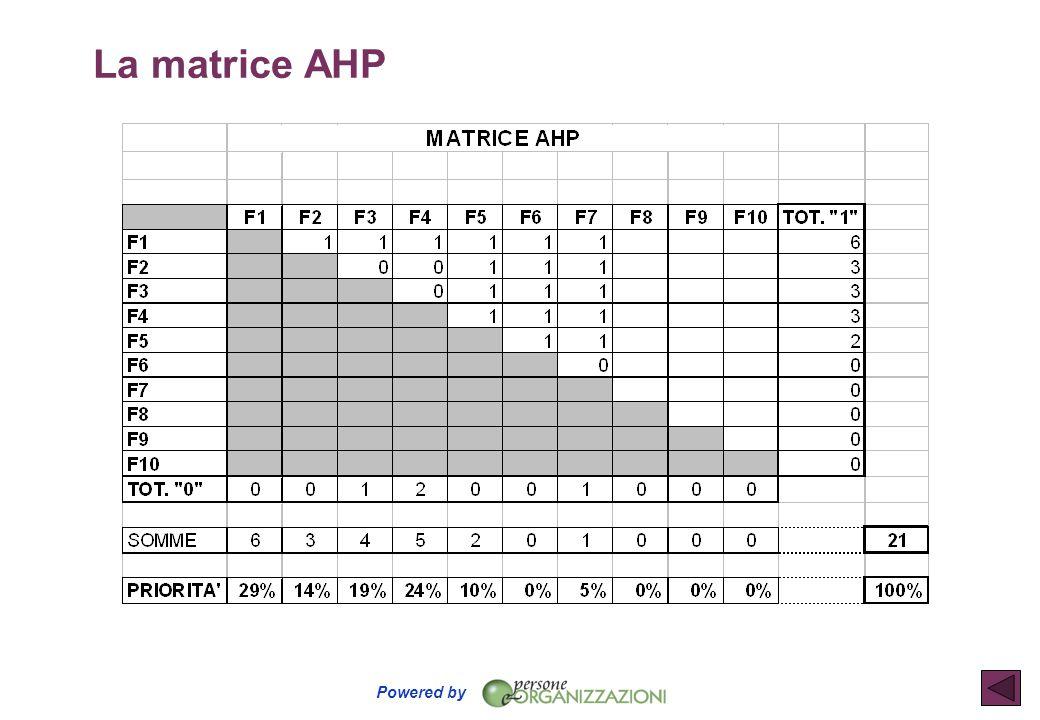 La matrice AHP
