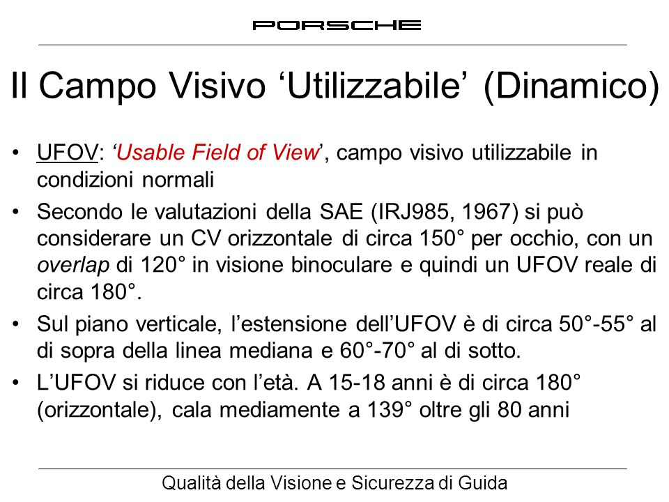 Il Campo Visivo 'Utilizzabile' (Dinamico)
