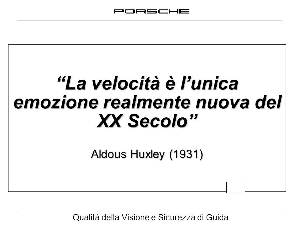 La velocità è l'unica emozione realmente nuova del XX Secolo Aldous Huxley (1931)