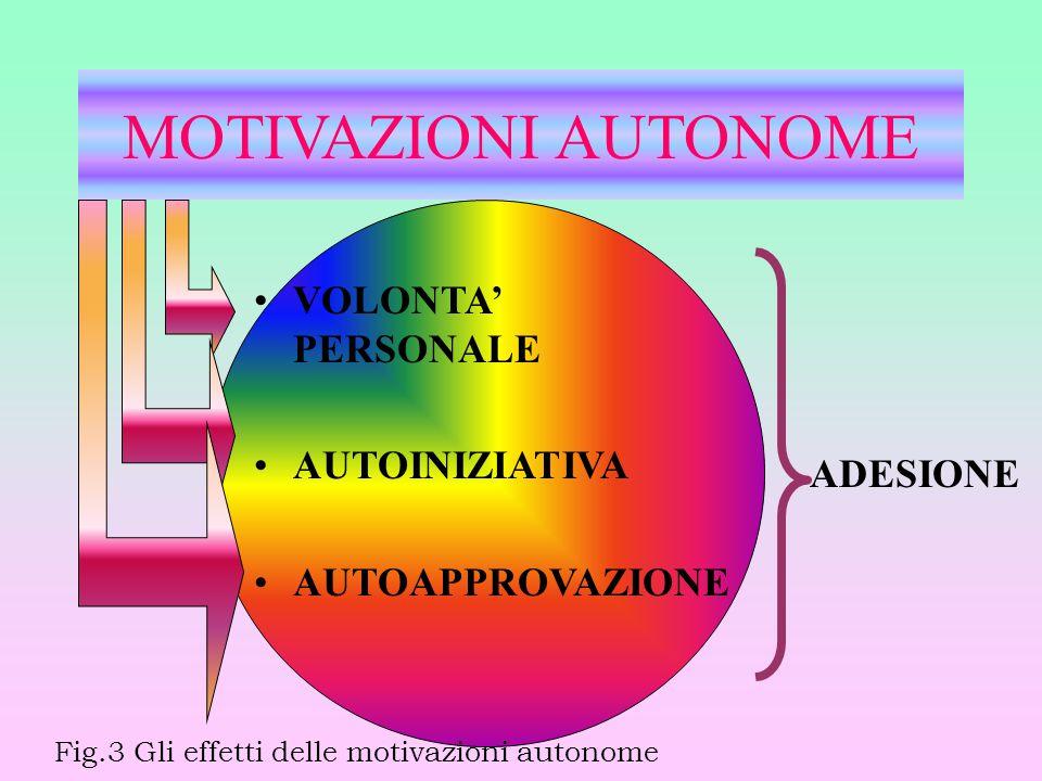 MOTIVAZIONI AUTONOME VOLONTA' PERSONALE AUTOINIZIATIVA