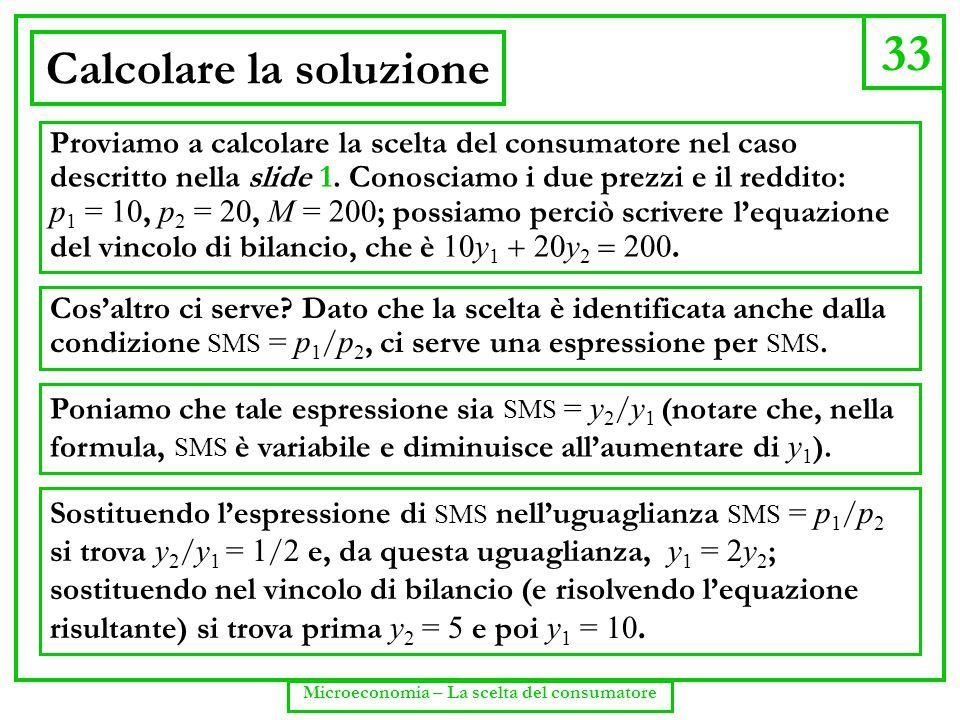 Calcolare la soluzione