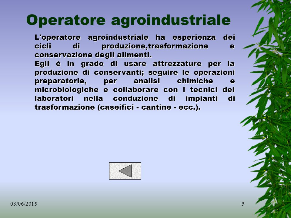 Operatore agroindustriale