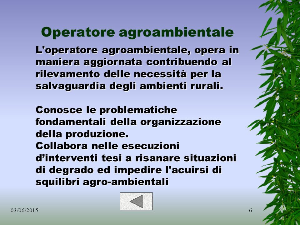 Operatore agroambientale
