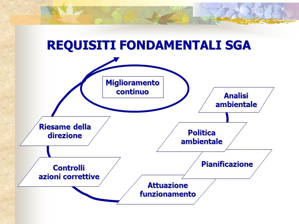 REQUISITI FONDAMENTALI SGA