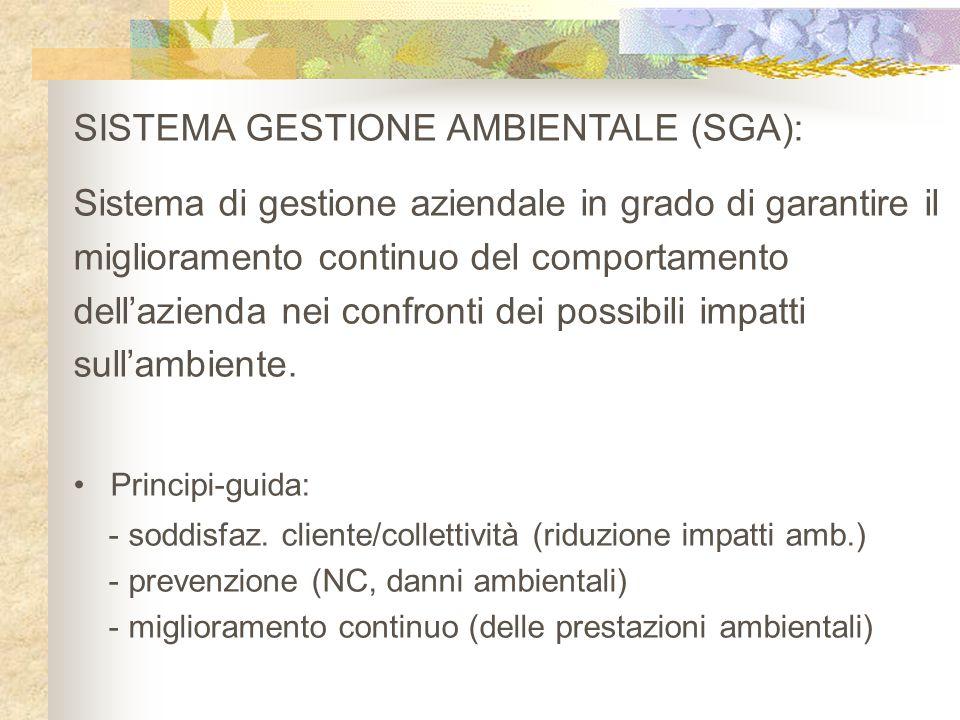 SISTEMA GESTIONE AMBIENTALE (SGA):