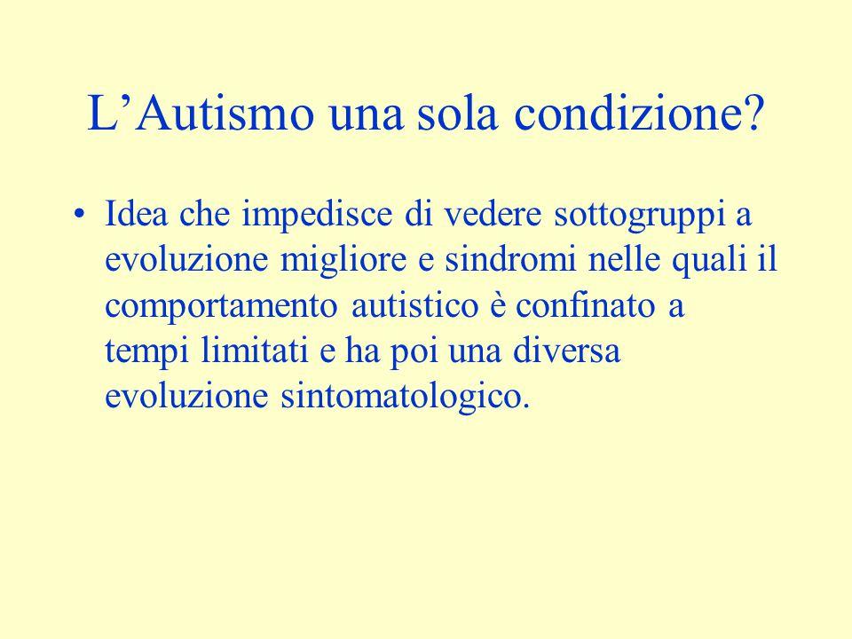 L'Autismo una sola condizione