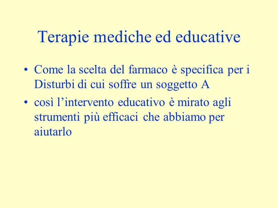 Terapie mediche ed educative
