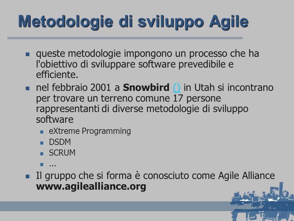 Metodologie di sviluppo Agile