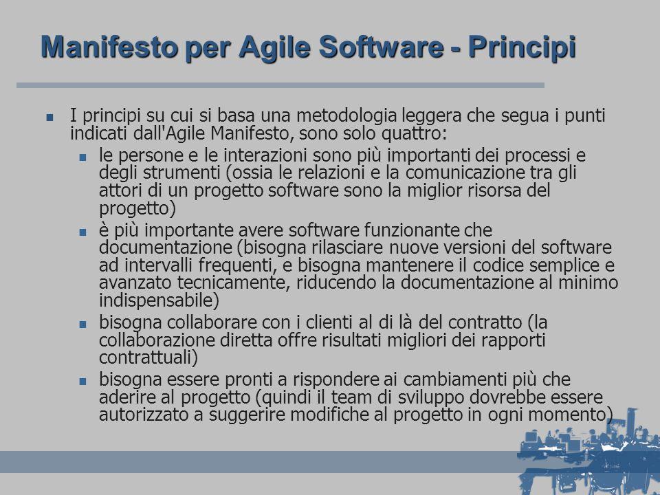 Manifesto per Agile Software - Principi