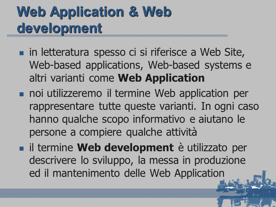 Web Application & Web development