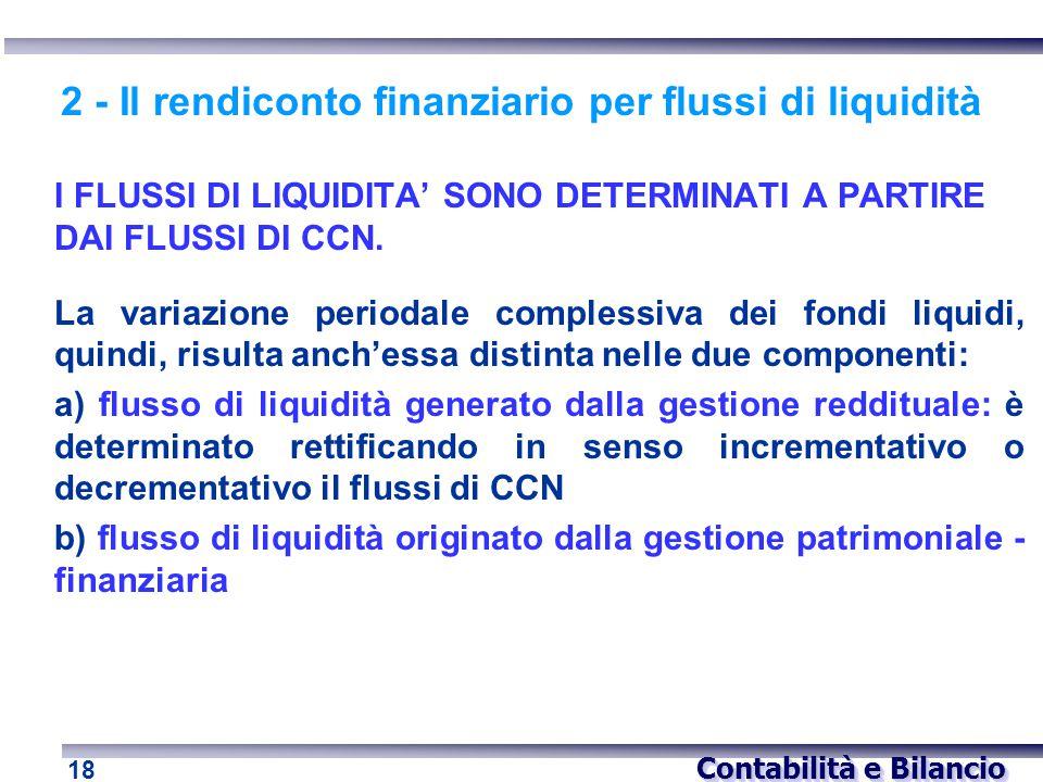 2 - Il rendiconto finanziario per flussi di liquidità