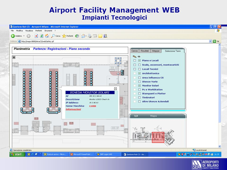 Airport Facility Management WEB Impianti Tecnologici