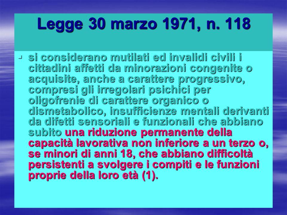 Legge 30 marzo 1971, n. 118
