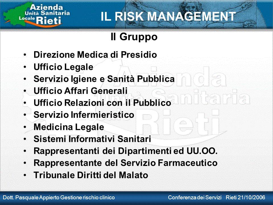 Il Gruppo Direzione Medica di Presidio Ufficio Legale