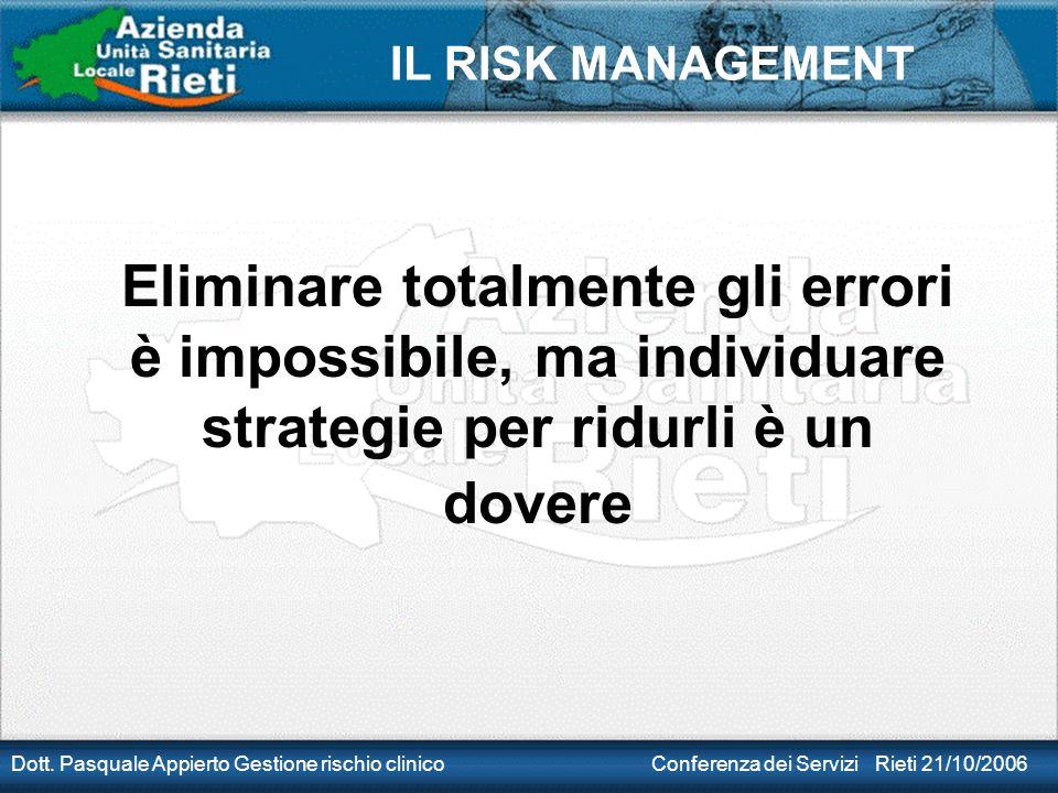 Eliminare totalmente gli errori è impossibile, ma individuare strategie per ridurli è un dovere
