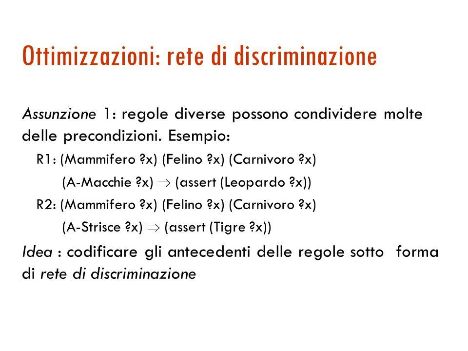 Ottimizzazioni: rete di discriminazione