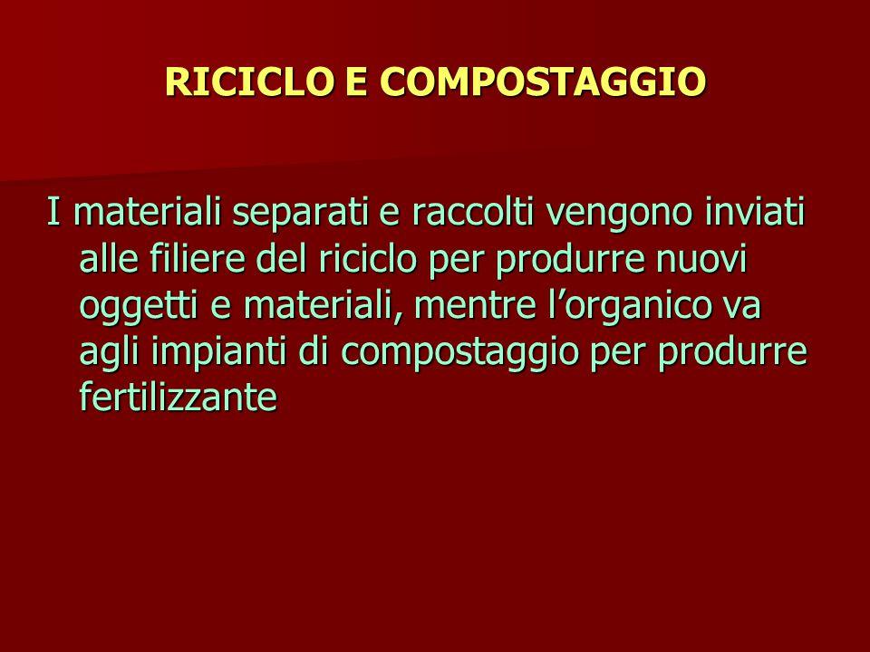 RICICLO E COMPOSTAGGIO