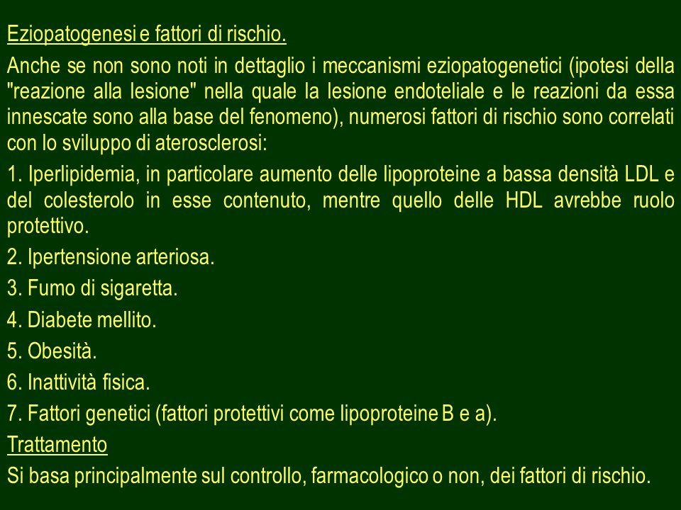 Eziopatogenesi e fattori di rischio.