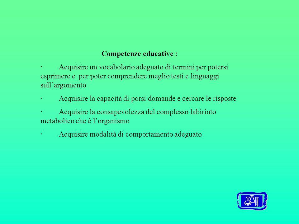 Competenze educative :