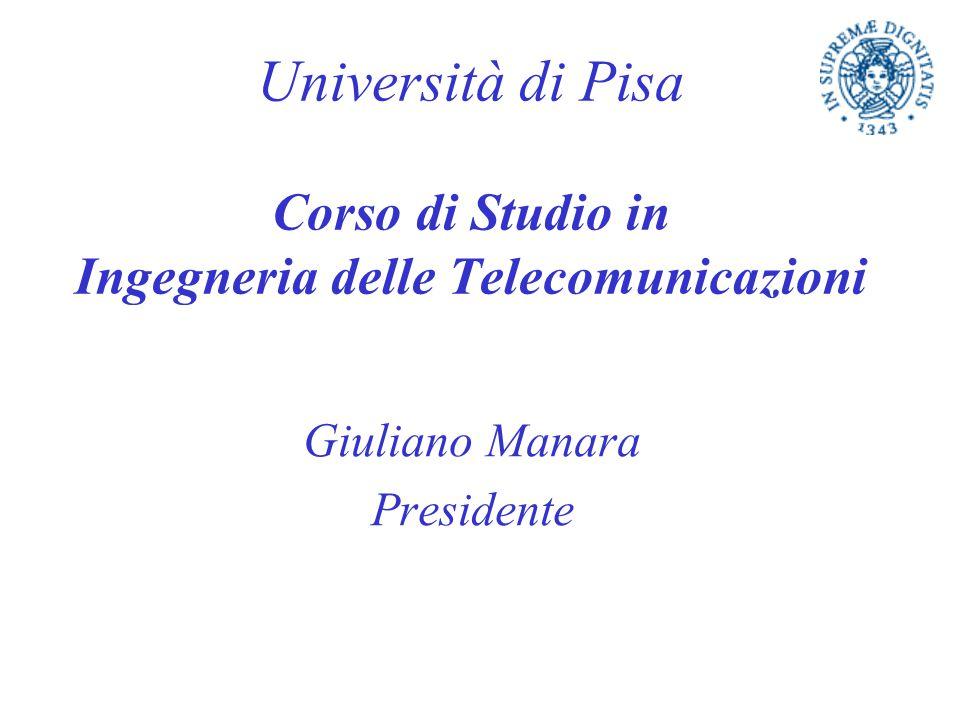 Università di Pisa Corso di Studio in Ingegneria delle Telecomunicazioni