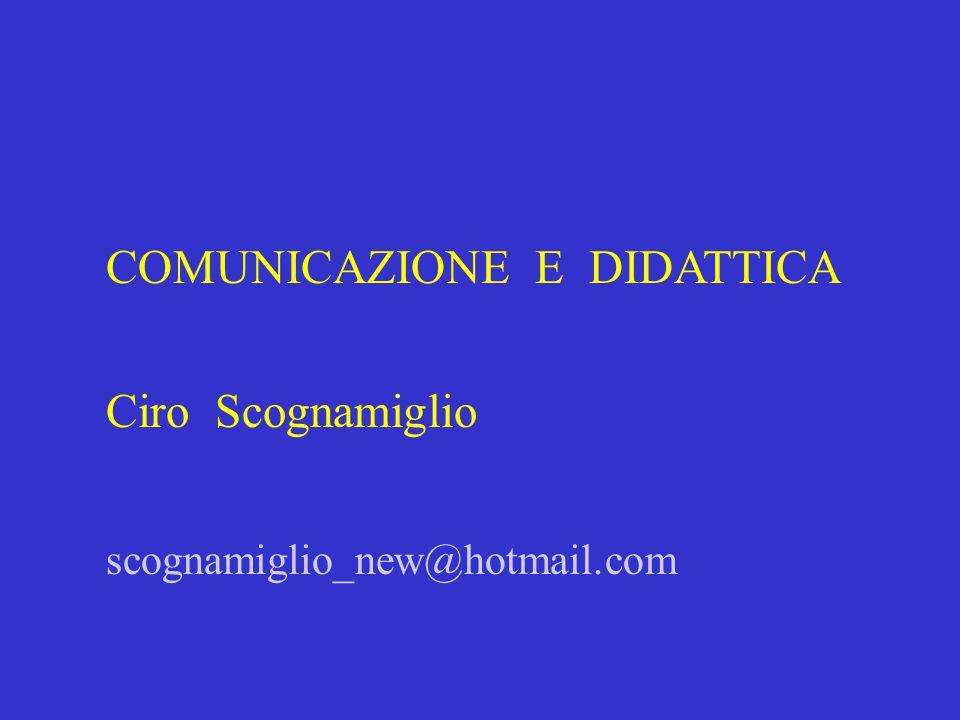 COMUNICAZIONE E DIDATTICA Ciro Scognamiglio