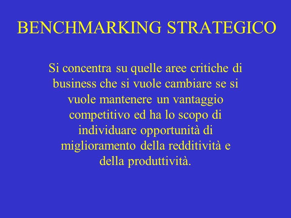 BENCHMARKING STRATEGICO