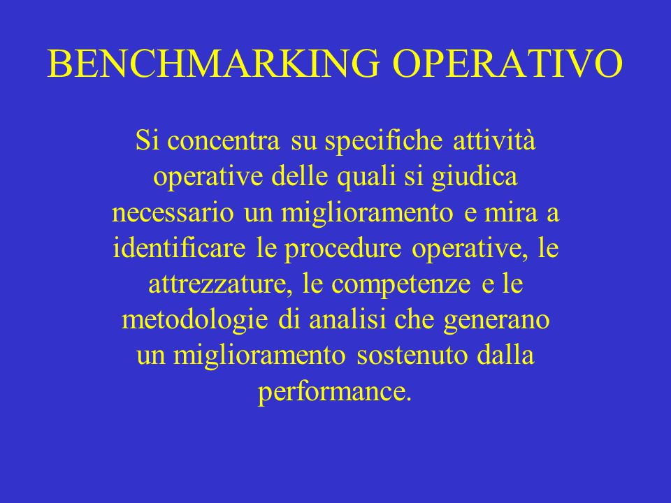 BENCHMARKING OPERATIVO