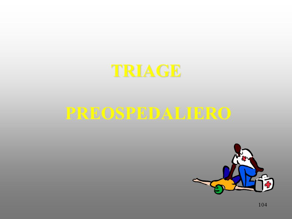 TRIAGE PREOSPEDALIERO