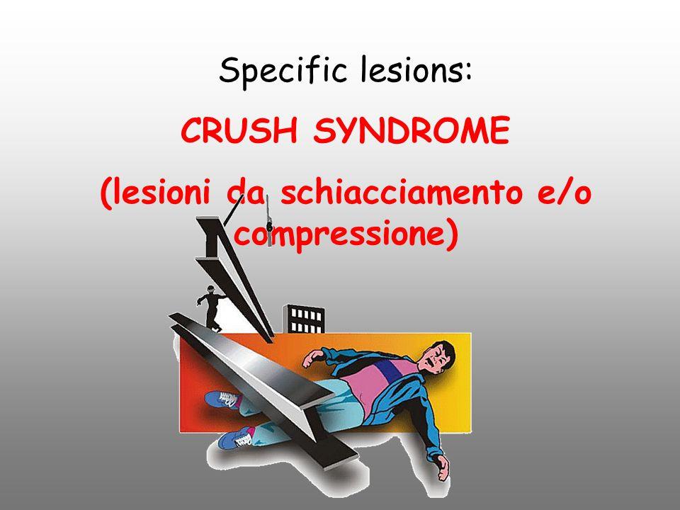 (lesioni da schiacciamento e/o compressione)