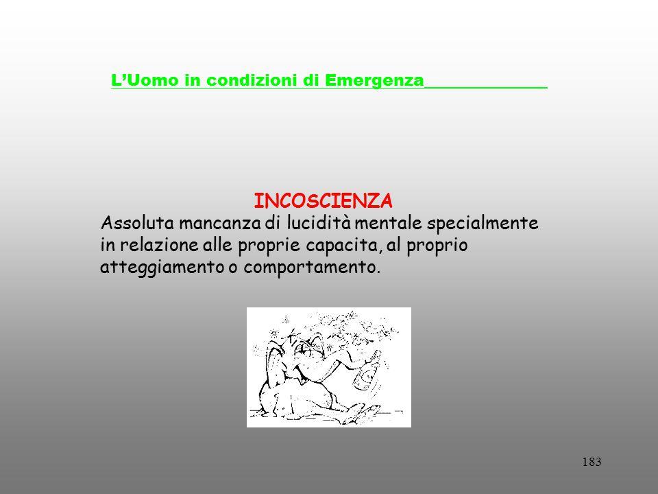 L'Uomo in condizioni di Emergenza_______________