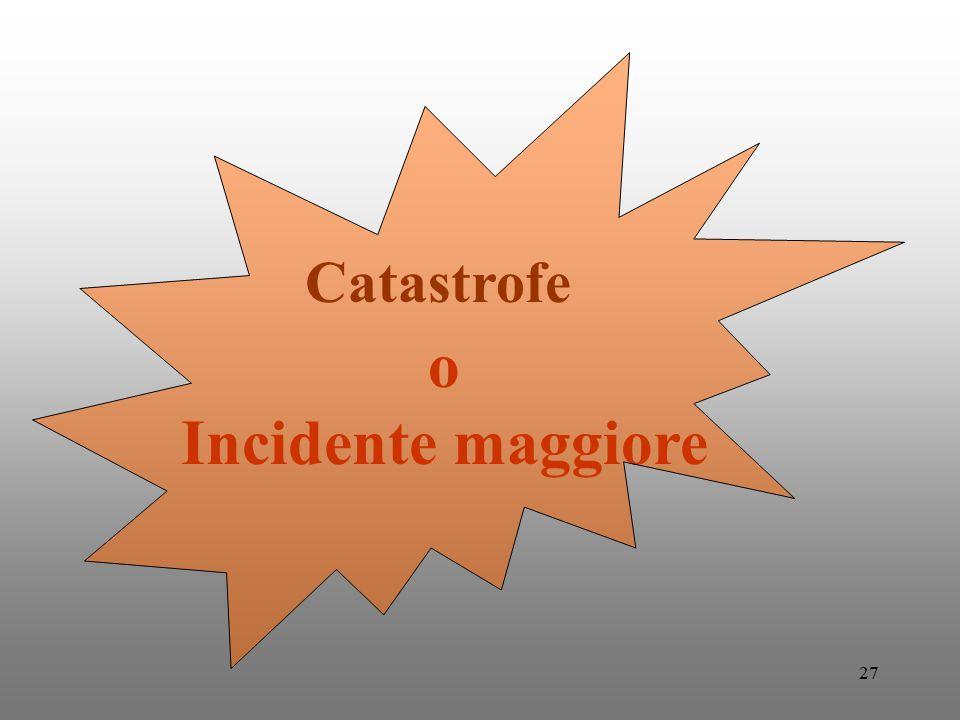 Catastrofe o Incidente maggiore