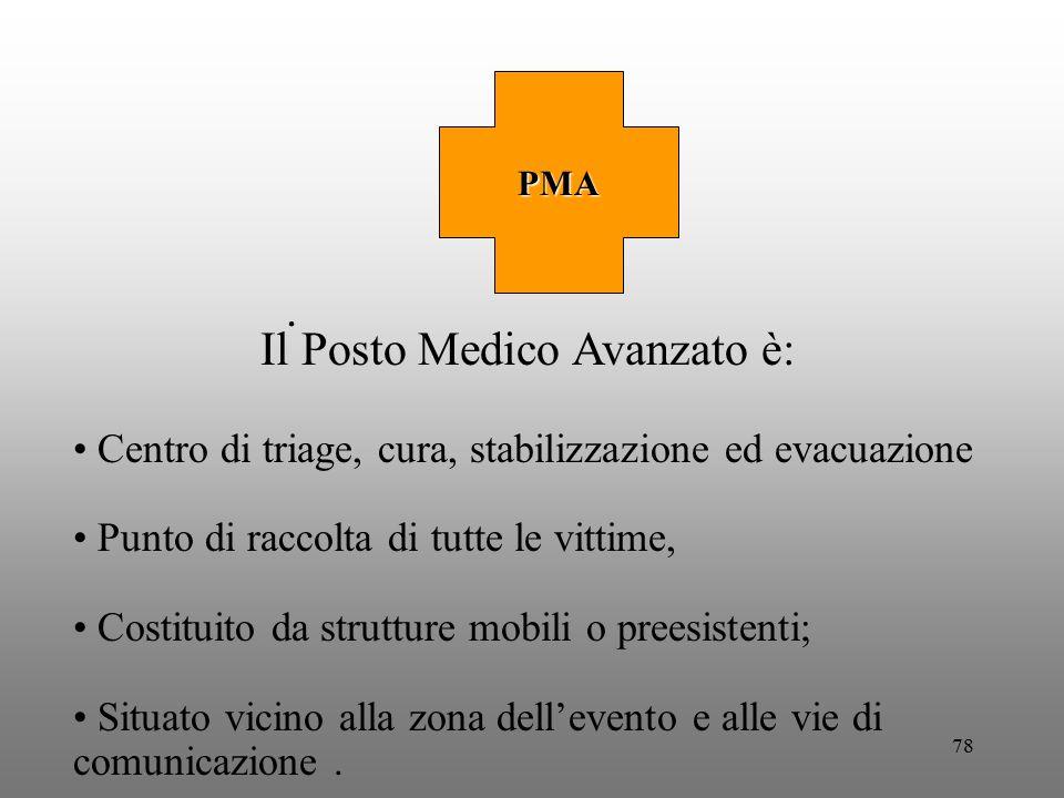 Il Posto Medico Avanzato è:
