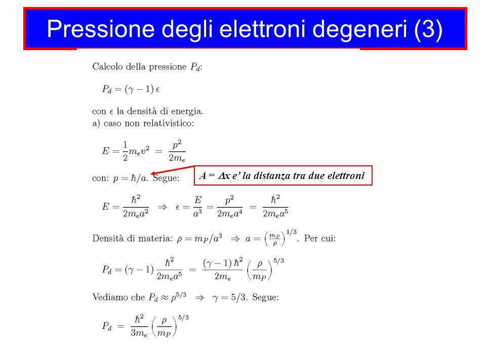 Pressione degli elettroni degeneri (3)