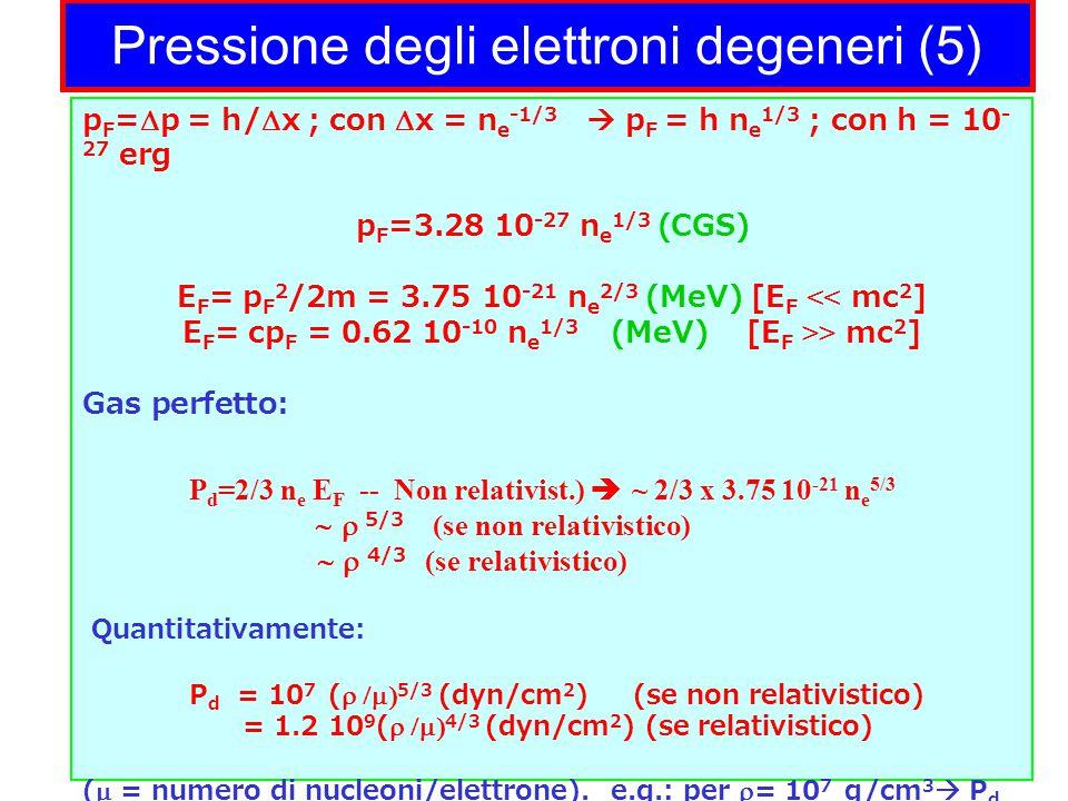 Pressione degli elettroni degeneri (5)