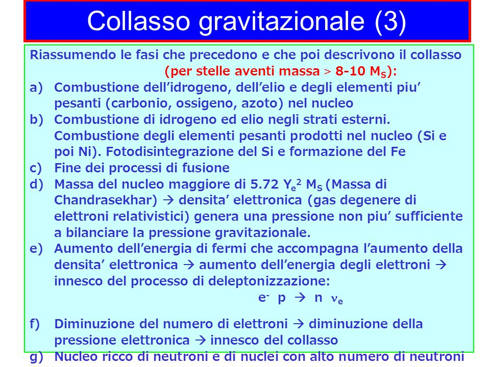 Collasso gravitazionale (3)