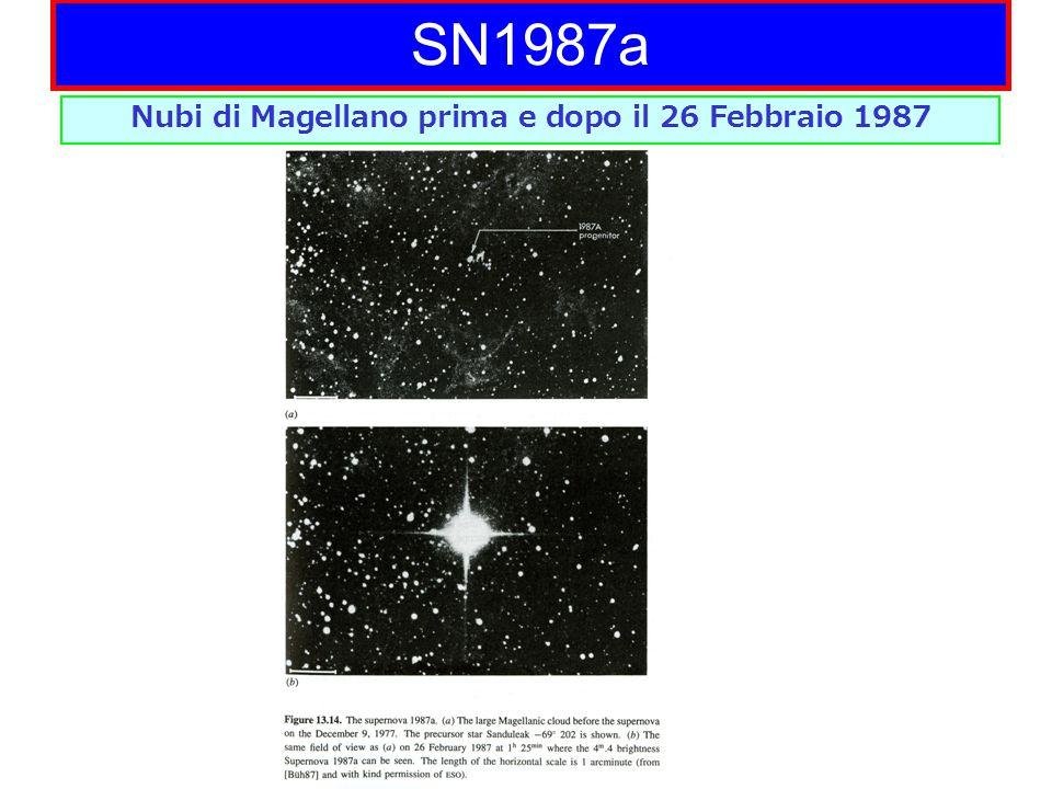 Nubi di Magellano prima e dopo il 26 Febbraio 1987