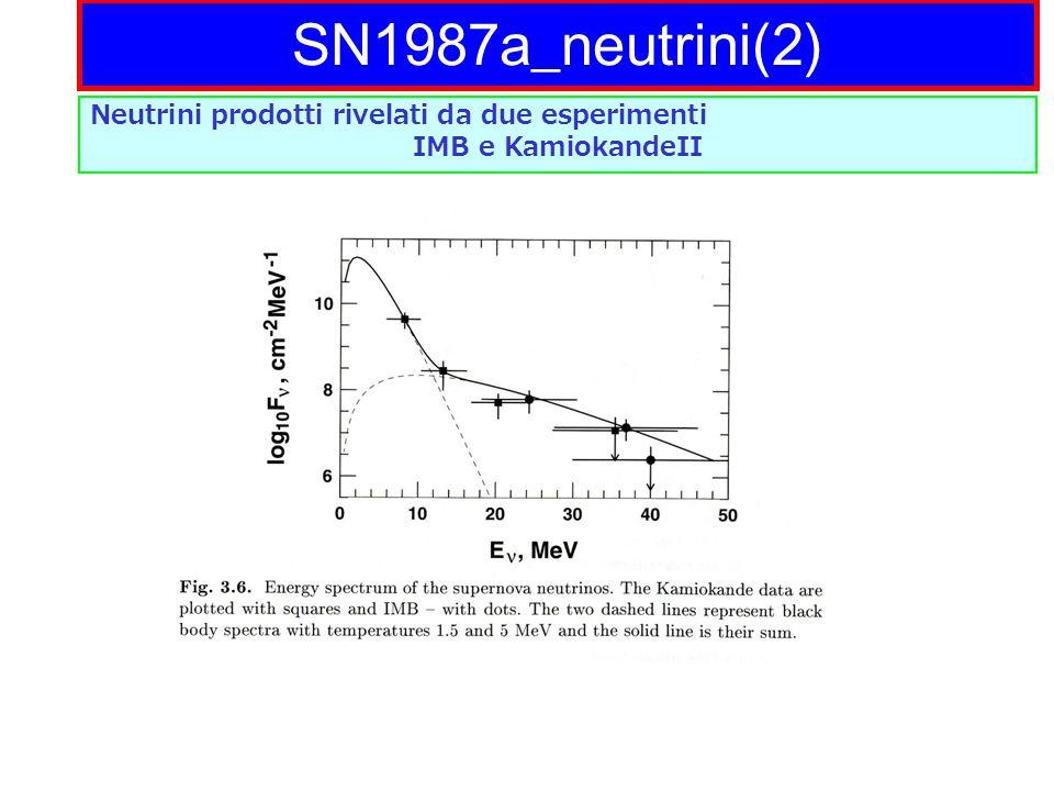 SN1987a_neutrini(2) Neutrini prodotti rivelati da due esperimenti