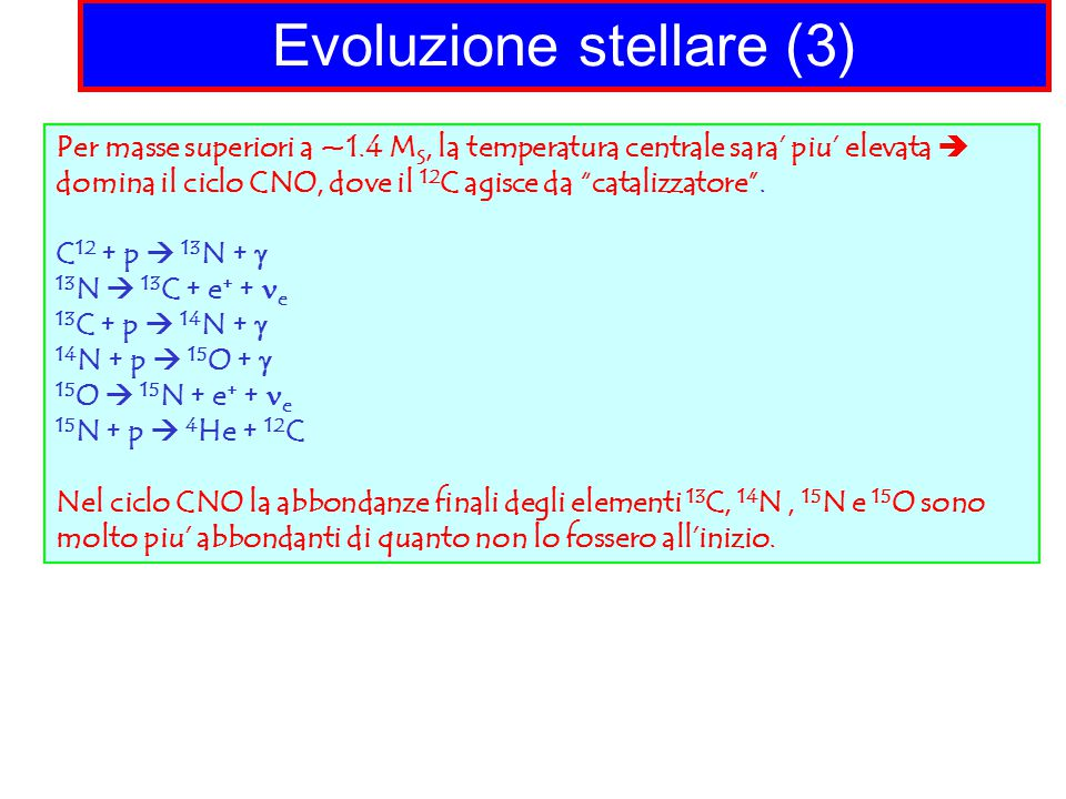 Evoluzione stellare (3)