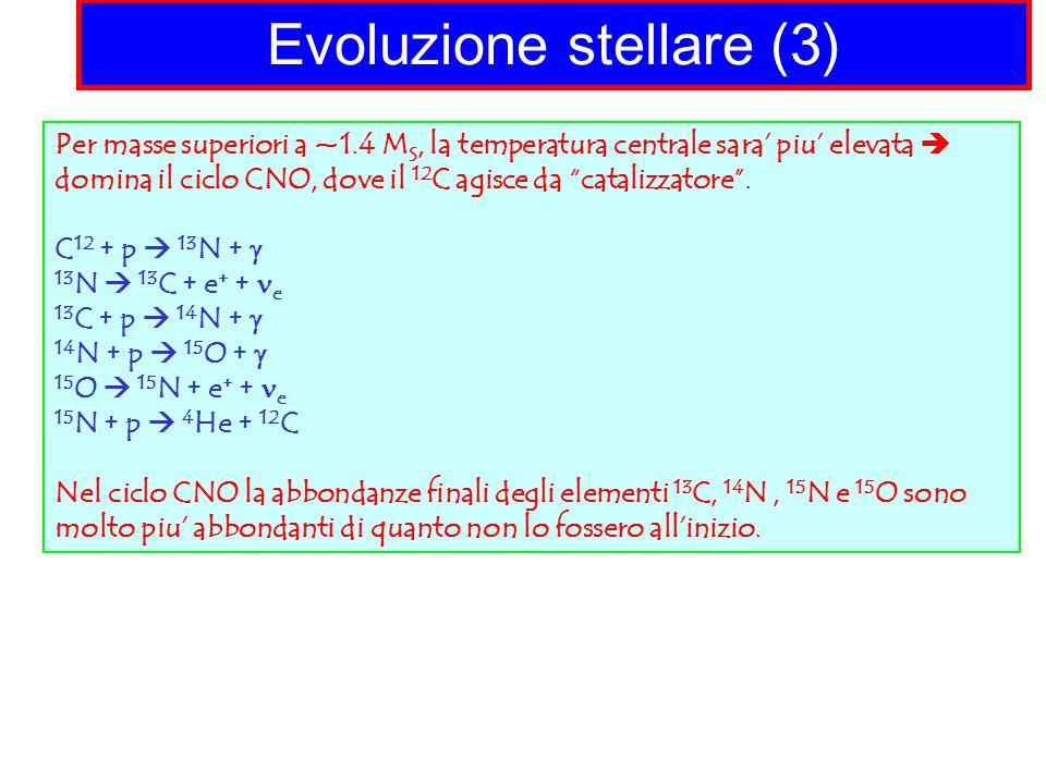 Evoluzione stellare (3)