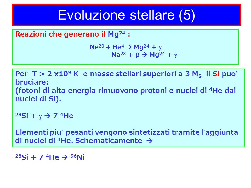 Evoluzione stellare (5)