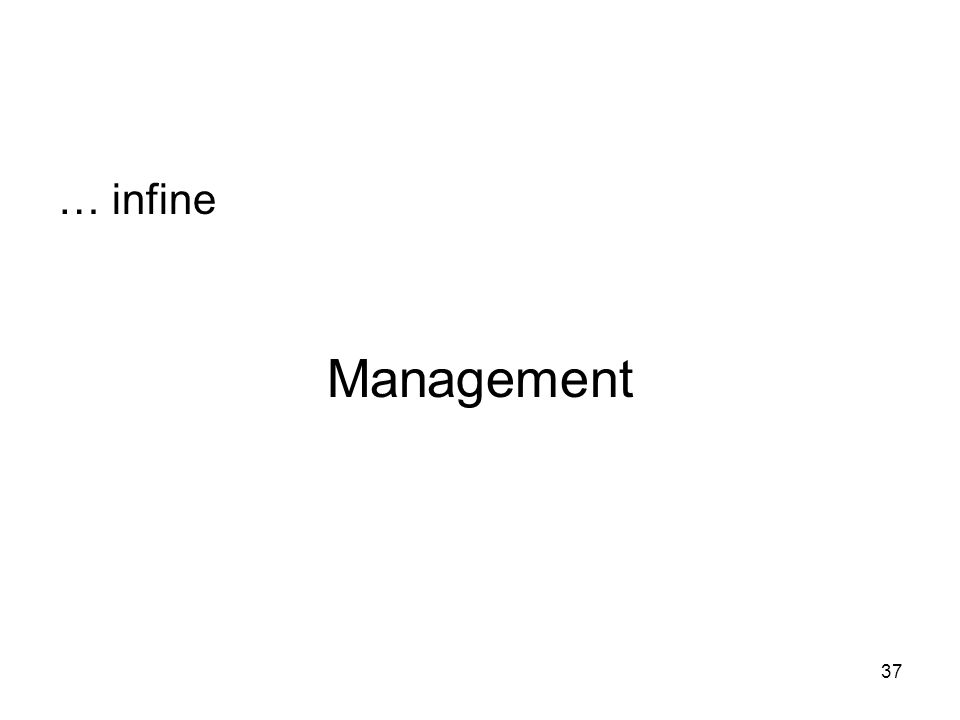 Management … infine