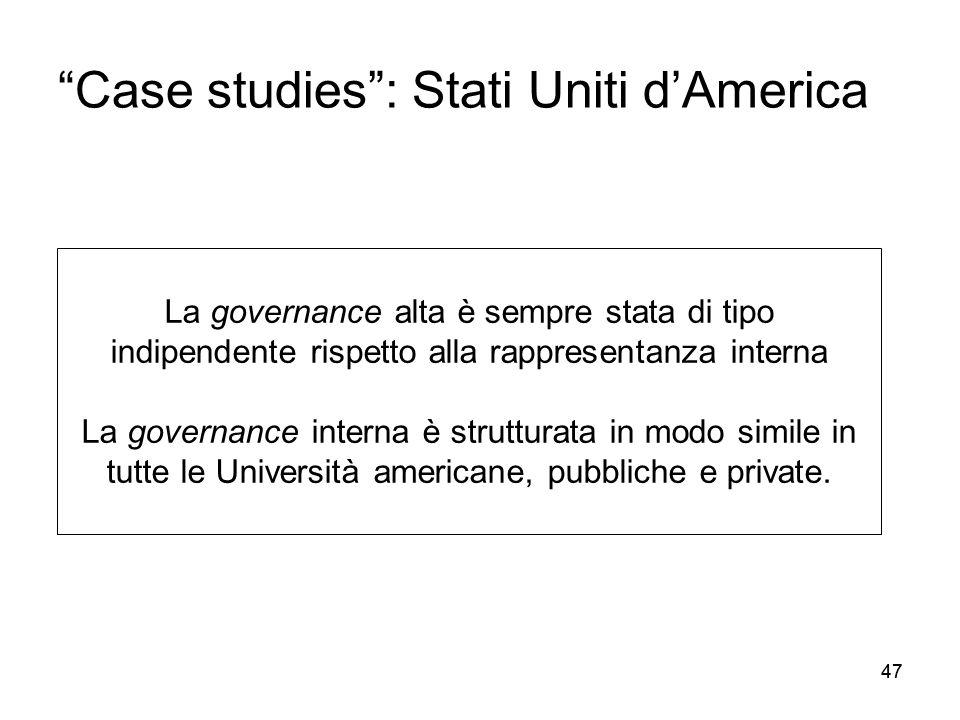 Case studies : Stati Uniti d'America