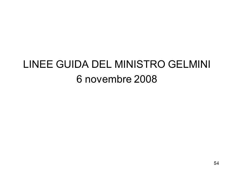 LINEE GUIDA DEL MINISTRO GELMINI