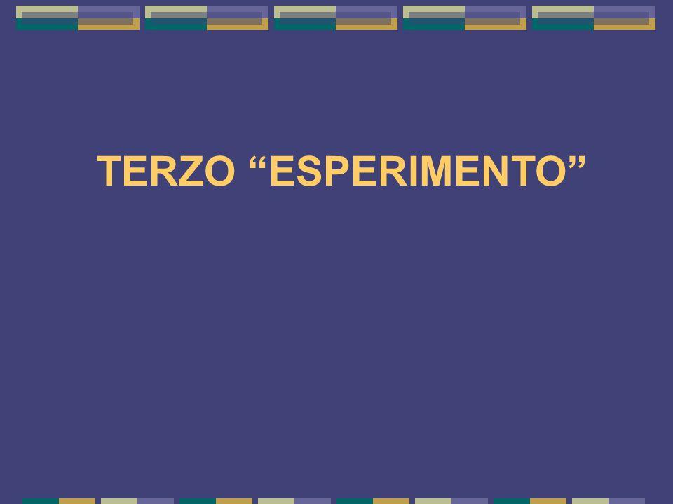 TERZO ESPERIMENTO 15