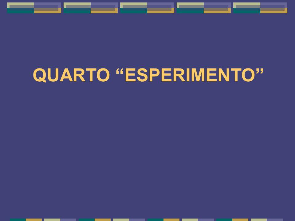 QUARTO ESPERIMENTO 17