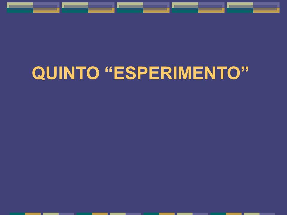 QUINTO ESPERIMENTO 20