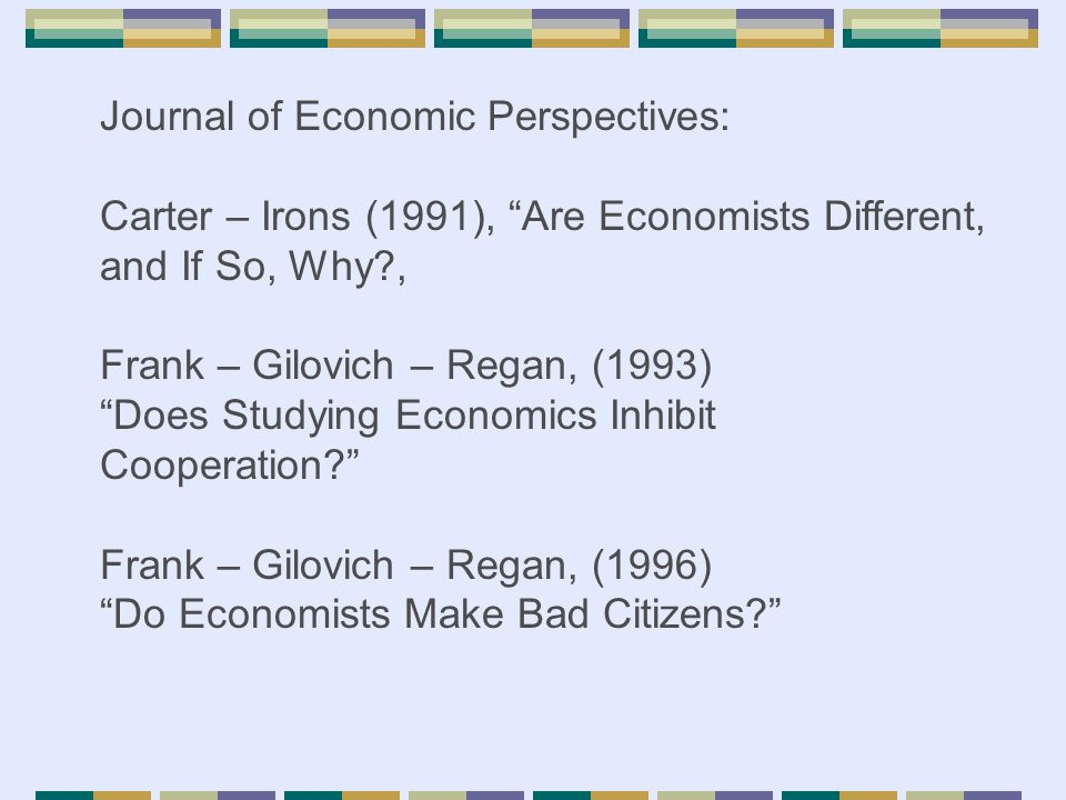 Journal of Economic Perspectives: